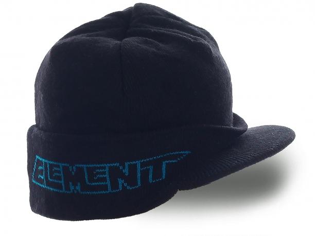 Мужская шапка Element с козырьком. Теплая модель, которая надежно защитит от непогоды