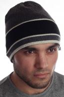 Мужская шапка фанатам зимнего спорта утепленная флисом