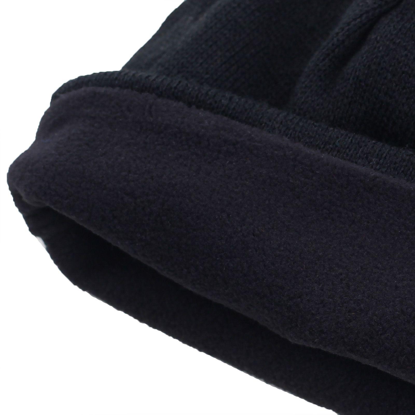 Купить черную флисовую шапку
