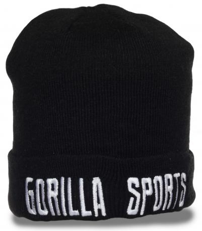 Мужская шапка Gorilla Sports. Теплая модель лаконичного дизайна. Комфорт 100%