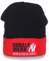 Мужская шапка Gorilla Wear черно-красная