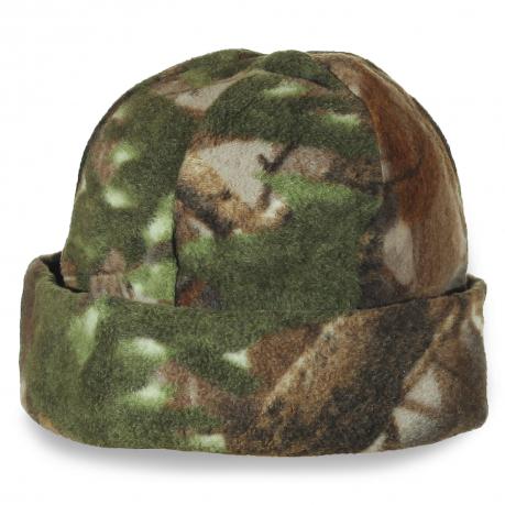 Мужская шапка камуфляж из мягкой ткани