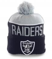 Мужская шапка Raiders на флисе. Очень теплая и модная модель современного дизайна
