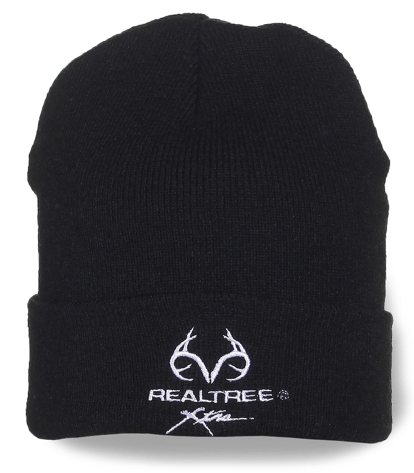 Мужская шапка Realtree черного цвета