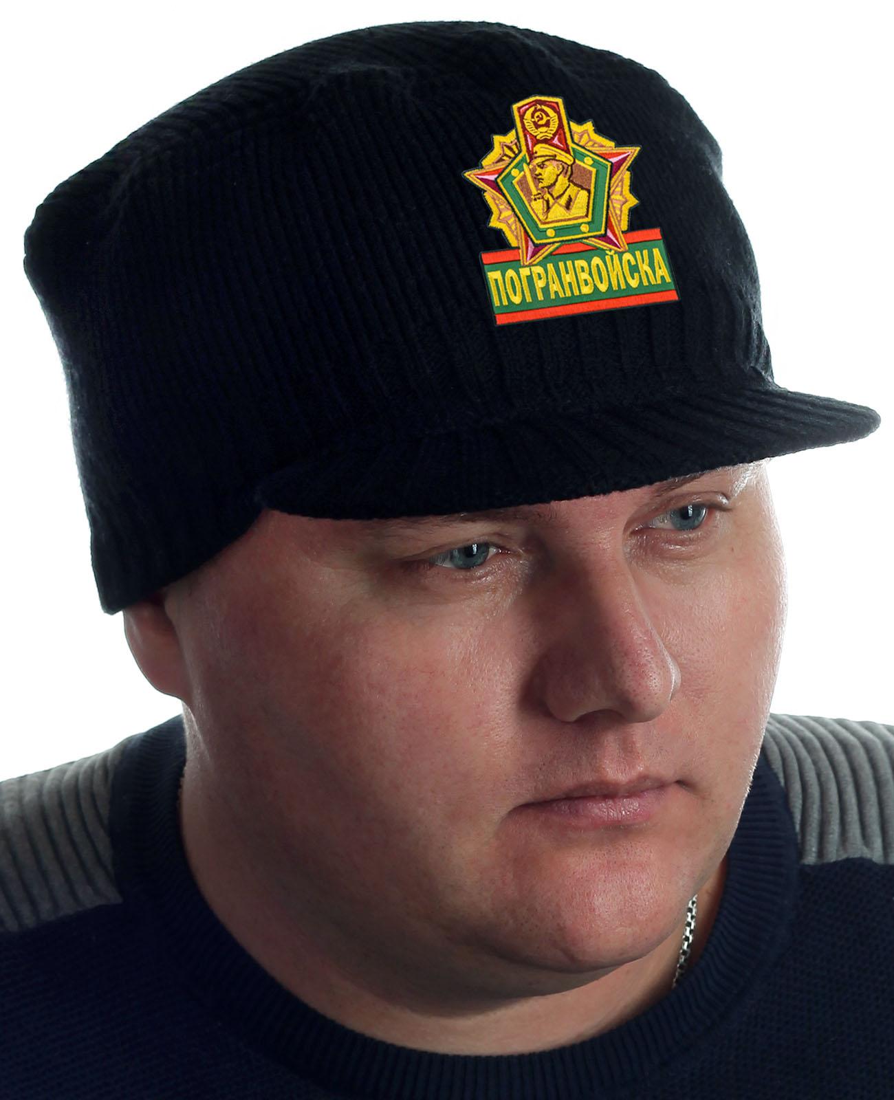 Купить мужскую шапку с козырьком от Miller Way и нашивкой Погранвойска с доставкой онлайн