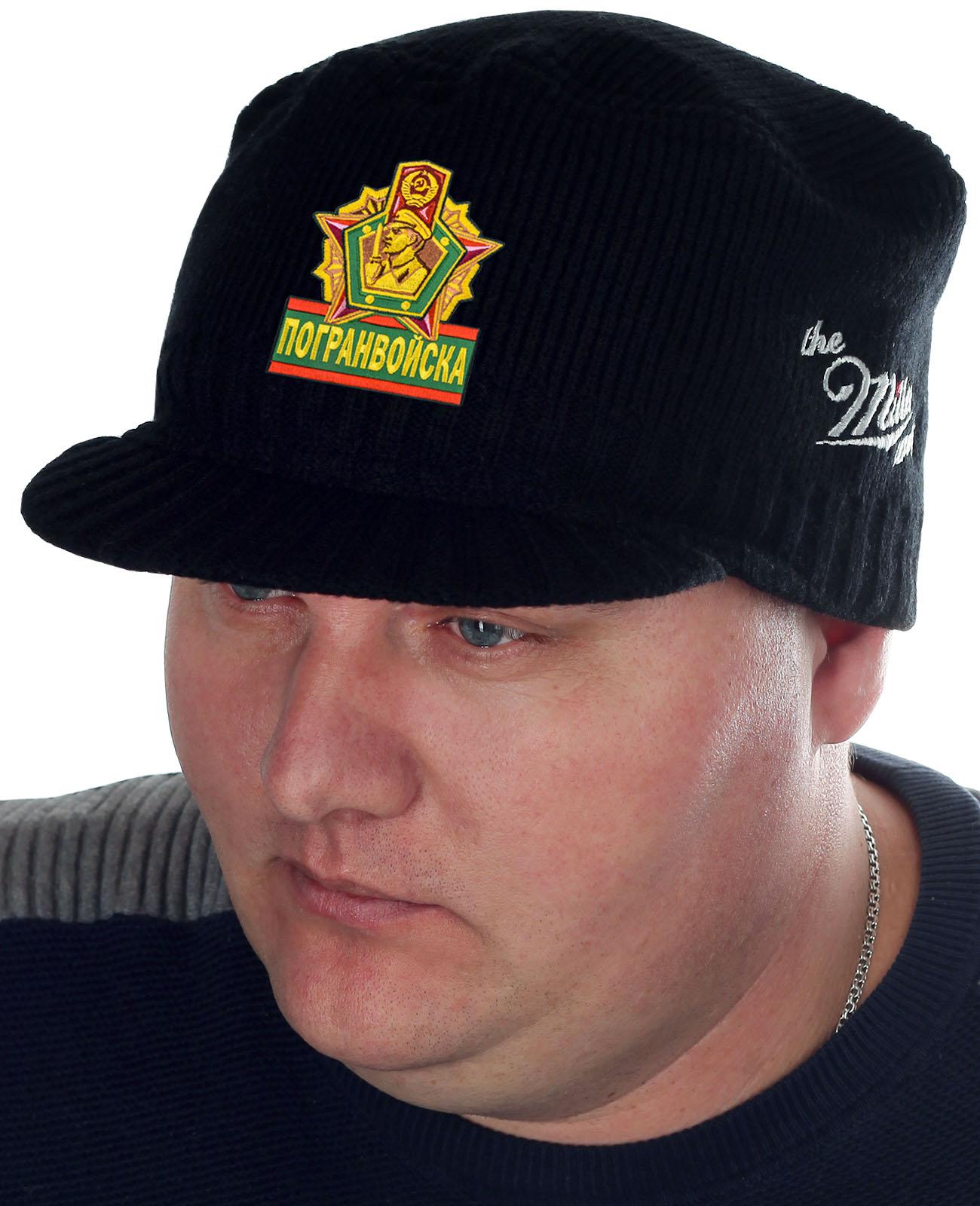 Мужская шапка с козырьком от Miller Way и нашивкой Погранвойска - купить в подарок