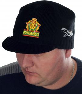 Мужская шапка с козырьком от Miller Way и нашивкой Погранвойска - купить с доставкой