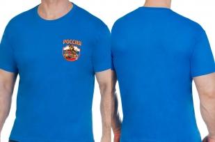 Мужская синяя футболка Россия - заказать онлайн