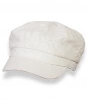 Летняя белая кепка из льна