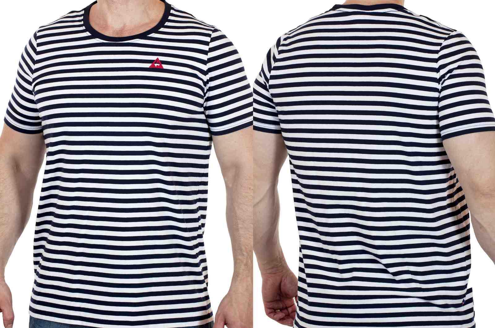 Мужская спортивная футболка Le Coq Sportif (Франция)-двойной ракурс
