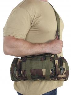 Мужская сумка на пояс с наплечным ремнём