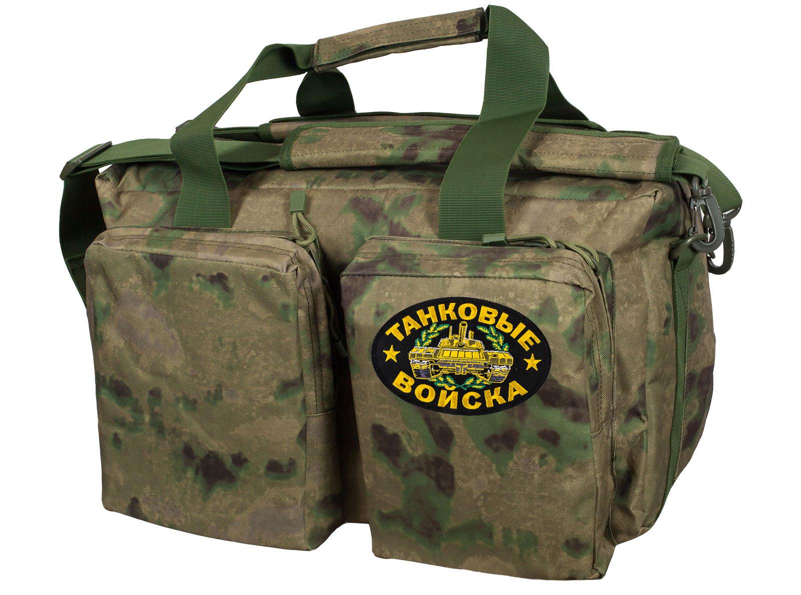 Мужская тактическая сумка с нашивкой Танковые Войска