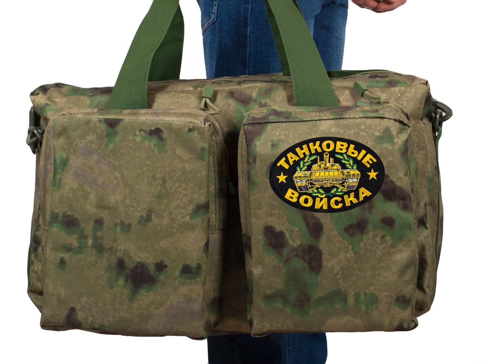 Мужская тактическая сумка с нашивкой Танковые Войска - заказать онлайн