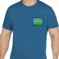 Мужская трикотажная футболка с вышивкой ВДВ