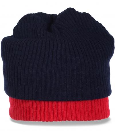 Мужская трикотажная шапка оригинального дизайна. Купите уникальный высококачественный аксессуар по низкой цене