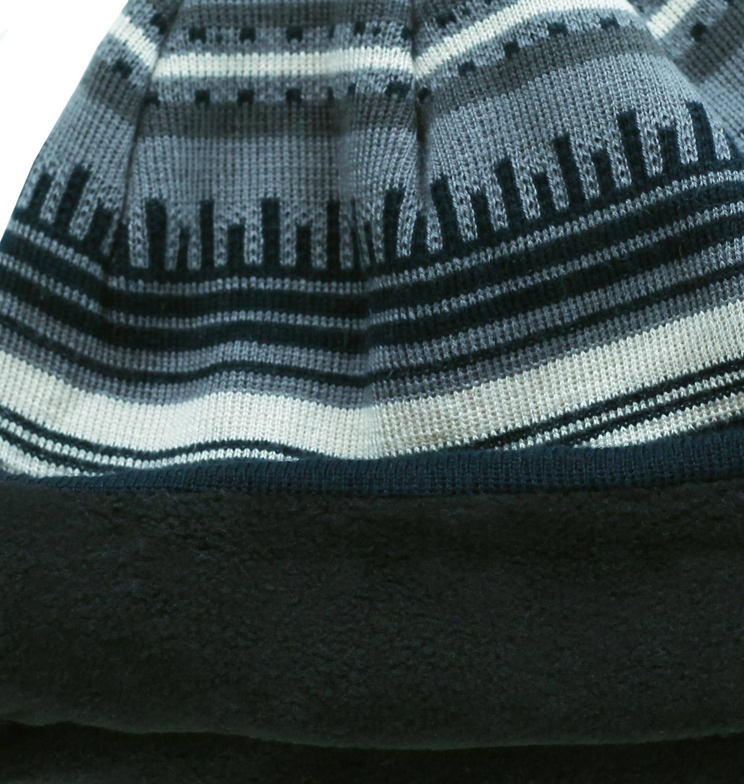 Купить мужскую ультрамодную элегантную шапку с жаккардовым рисунком и флисовой подкладкой по низкой цене