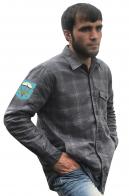 Мужская утепленная рубашка с вышитым шевроном ВДВ 116-й ОПДБ 31 гв. ОДШБр