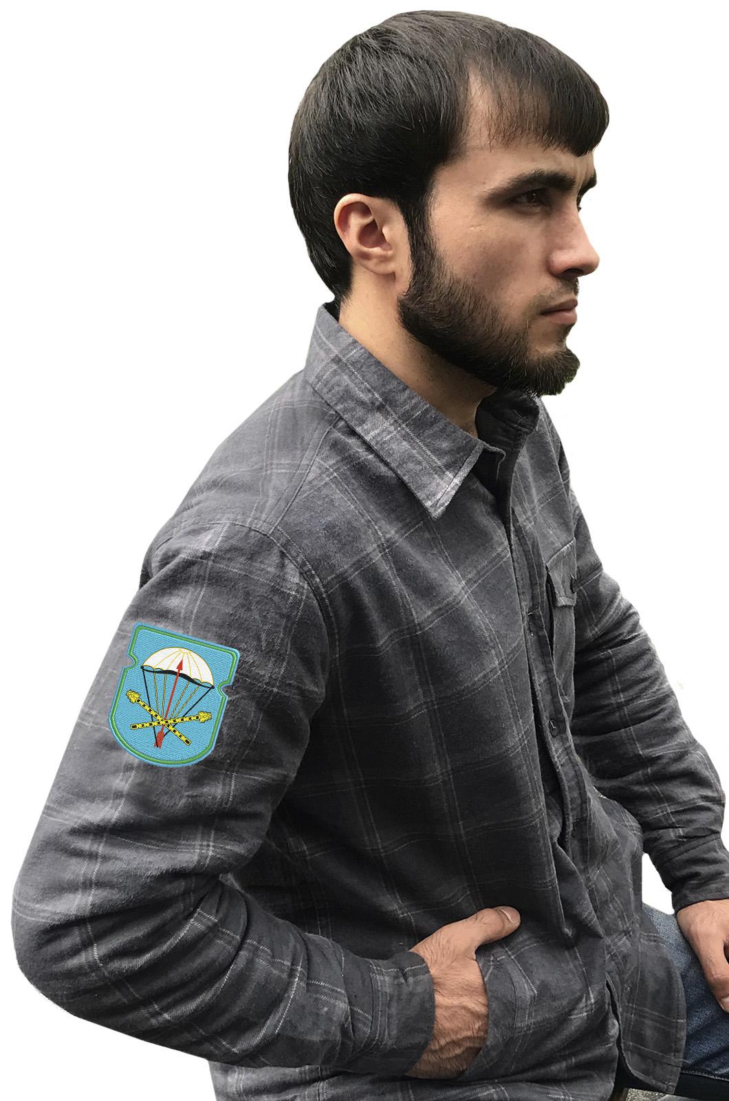 Мужская утепленная рубашка с вышитым шевроном ВДВ 116-й ОПДБ 31 гв. ОДШБр - заказать с доставкой