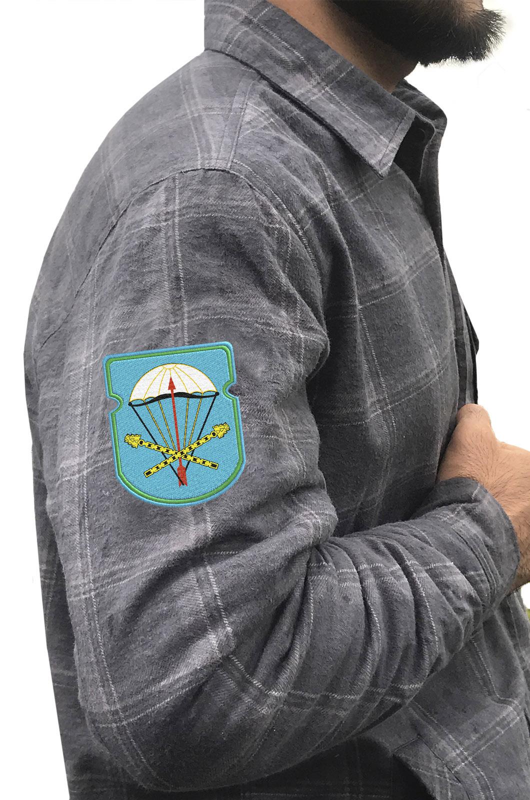 Мужская утепленная рубашка с вышитым шевроном ВДВ 116-й ОПДБ 31 гв. ОДШБр - заказать в подарок
