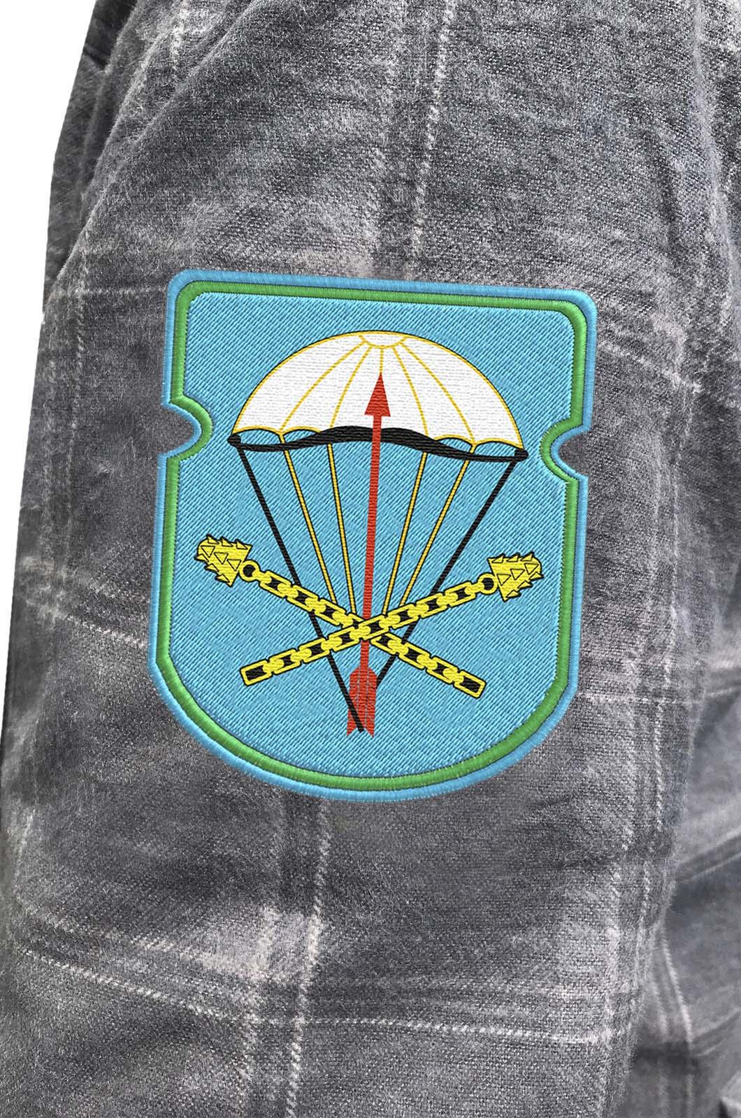 Мужская утепленная рубашка с вышитым шевроном ВДВ 116-й ОПДБ 31 гв. ОДШБр - заказать в Военпро