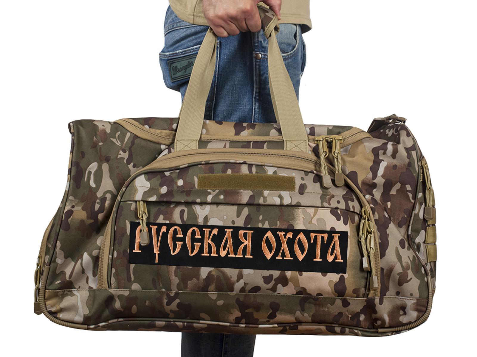 Купить мужскую военную сумку Русская Охота, код 08032B в подарок охотнику