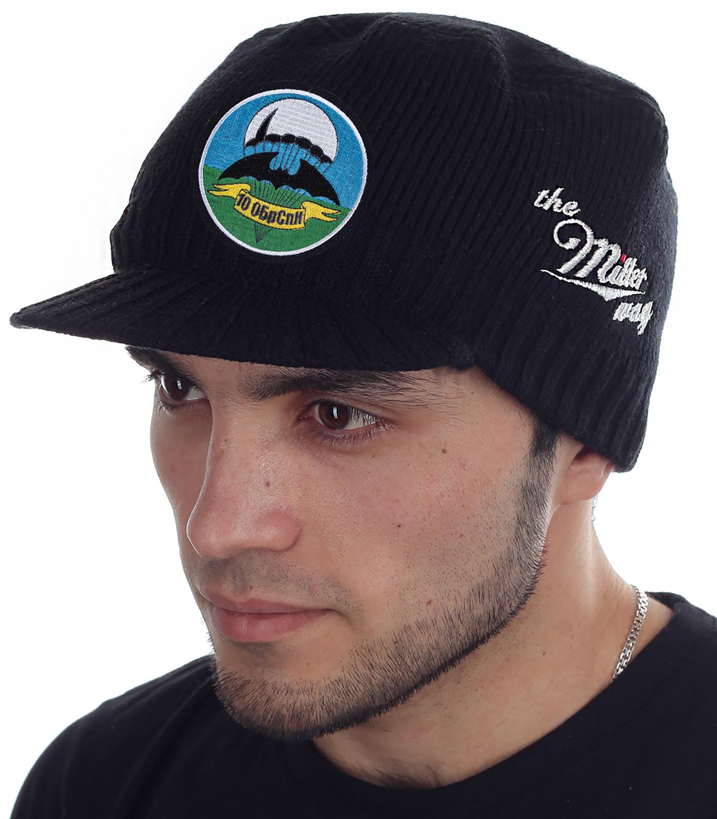 Мужская вязаная шапка с козырьком от Miller Way