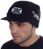 Мужская вязанная шапка с козырьком от бренда Miller Way - заказать оптом