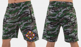 Мужские армейские шорты с казачьей нашивкой купить онлайн