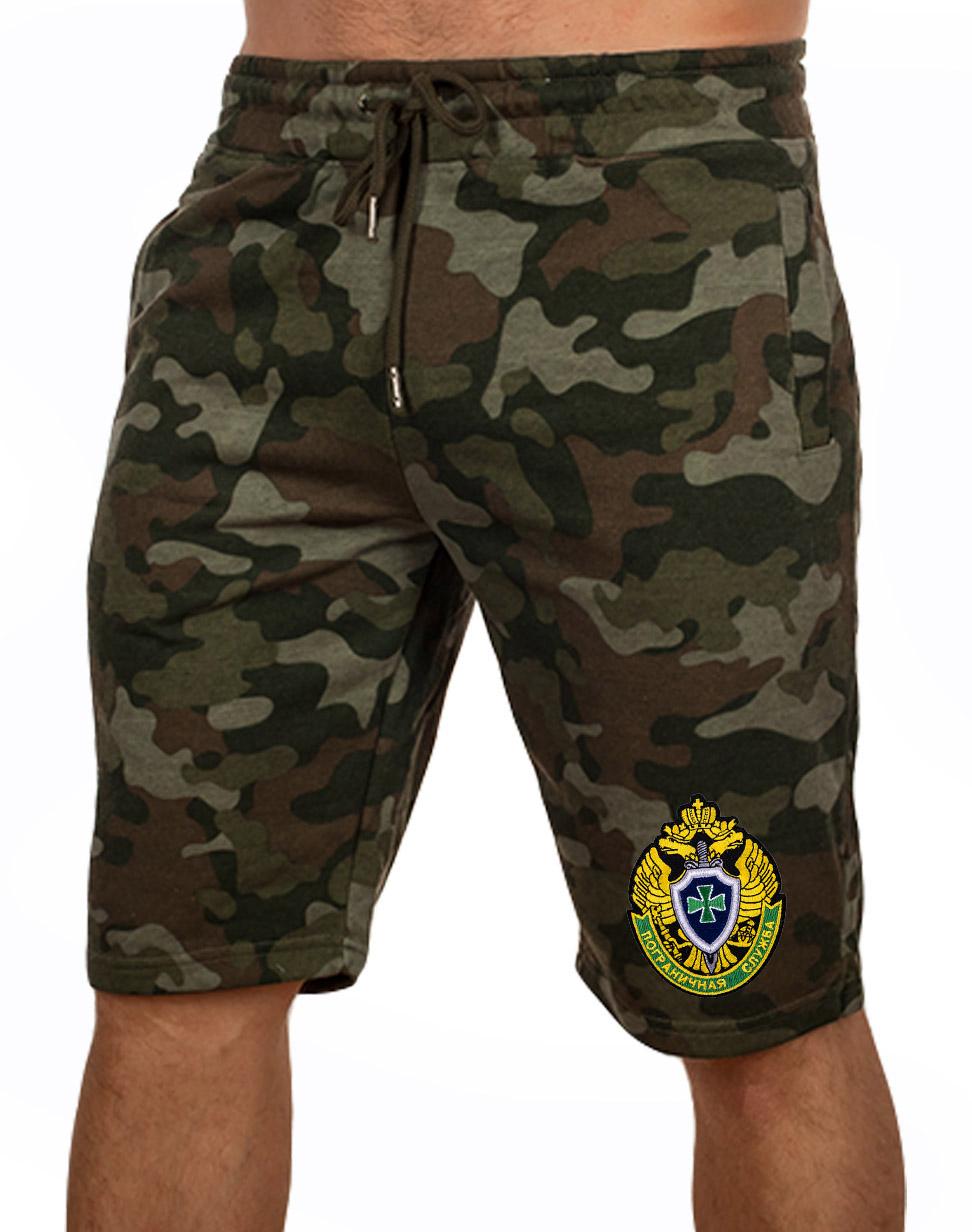 Купить мужские армейские шорты с нашивкой Погранслужбы  по лучшей цене