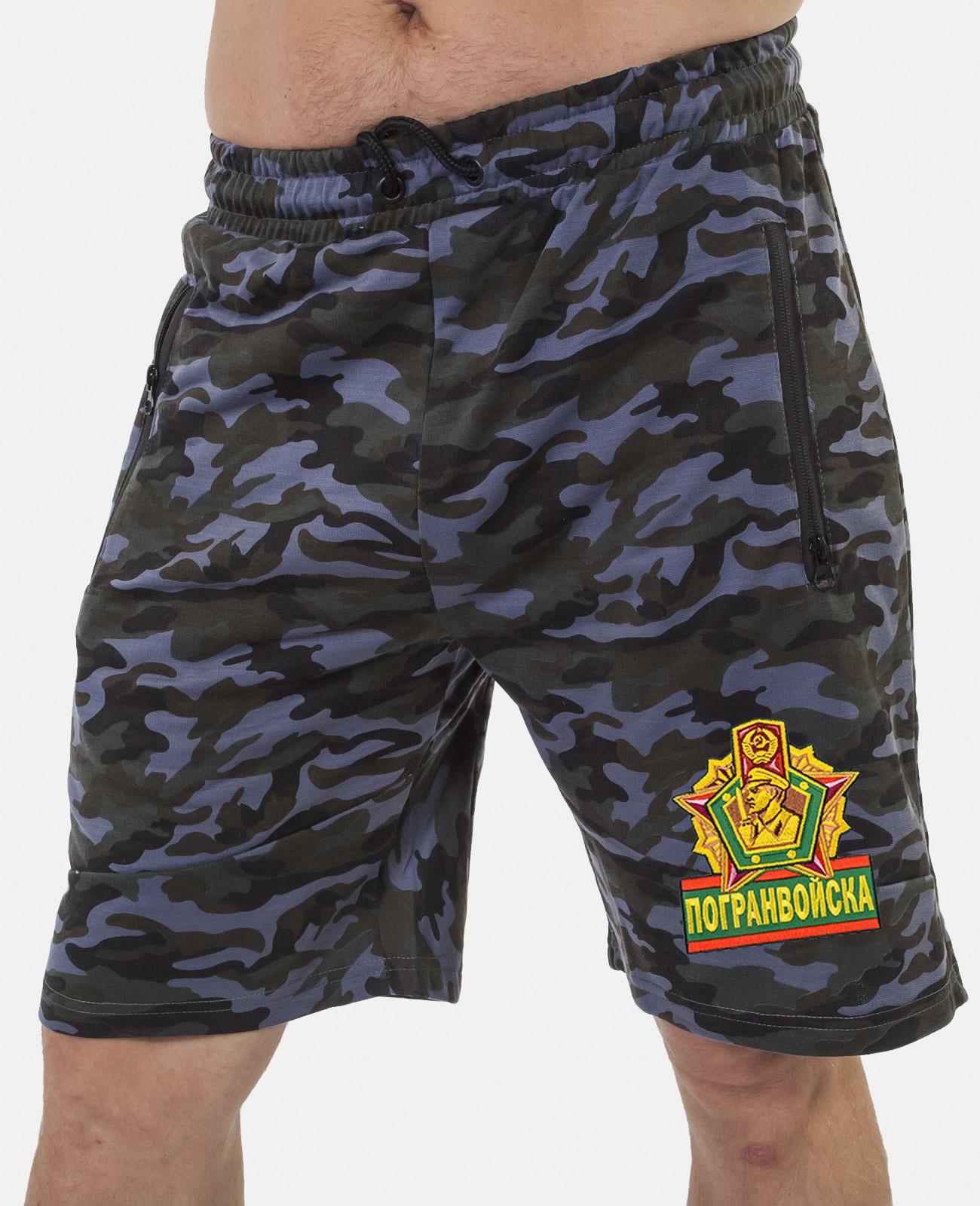 Купить мужские армейские шорты с нашивкой Погранвойска в подарок мужу