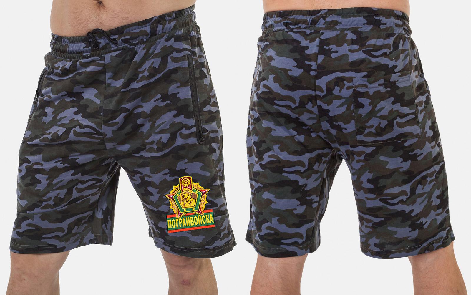 Мужские армейские шорты с нашивкой Погранвойска - купить в подарок
