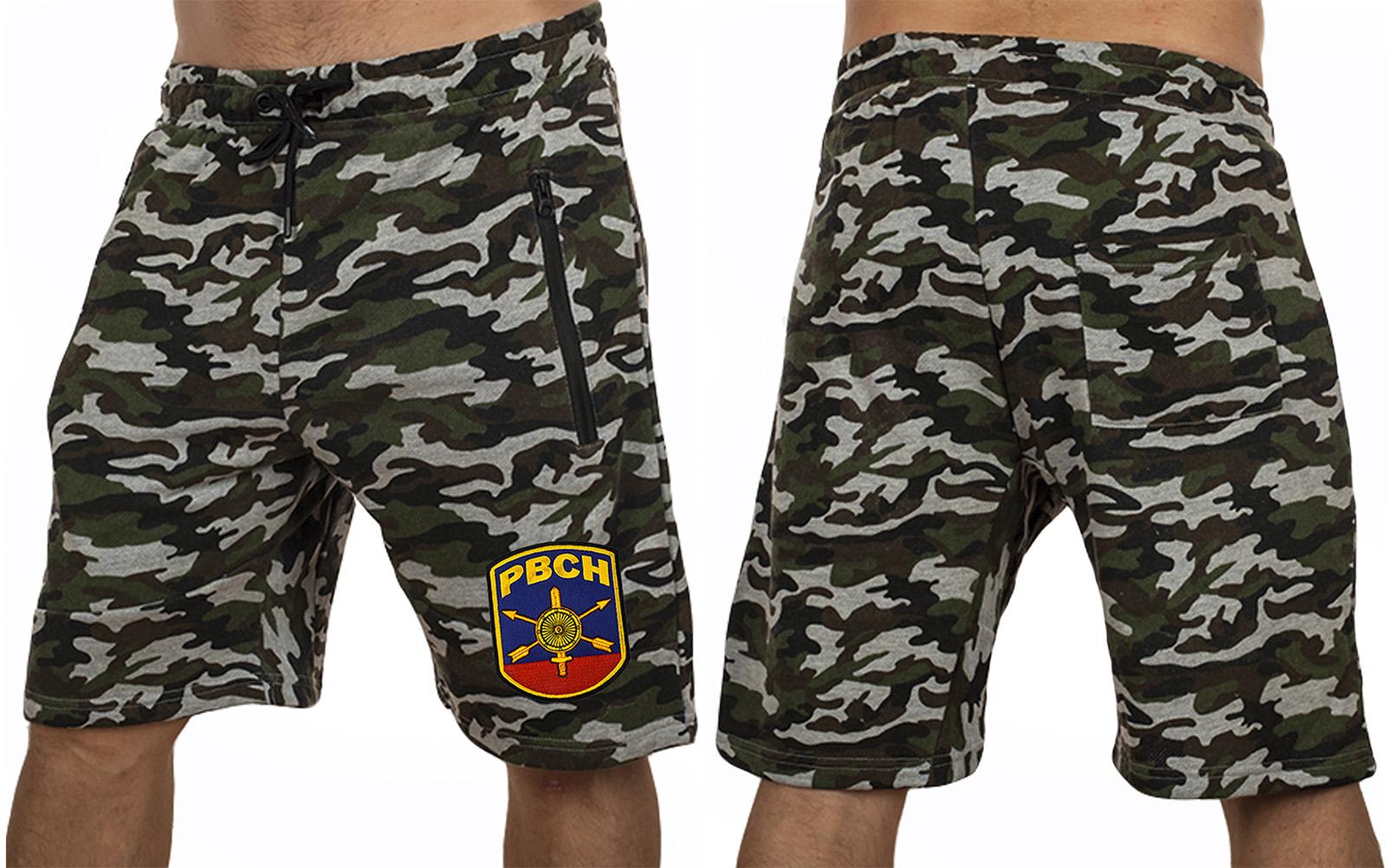 Мужские армейские шорты с нашивкой РВСН - купить оптом