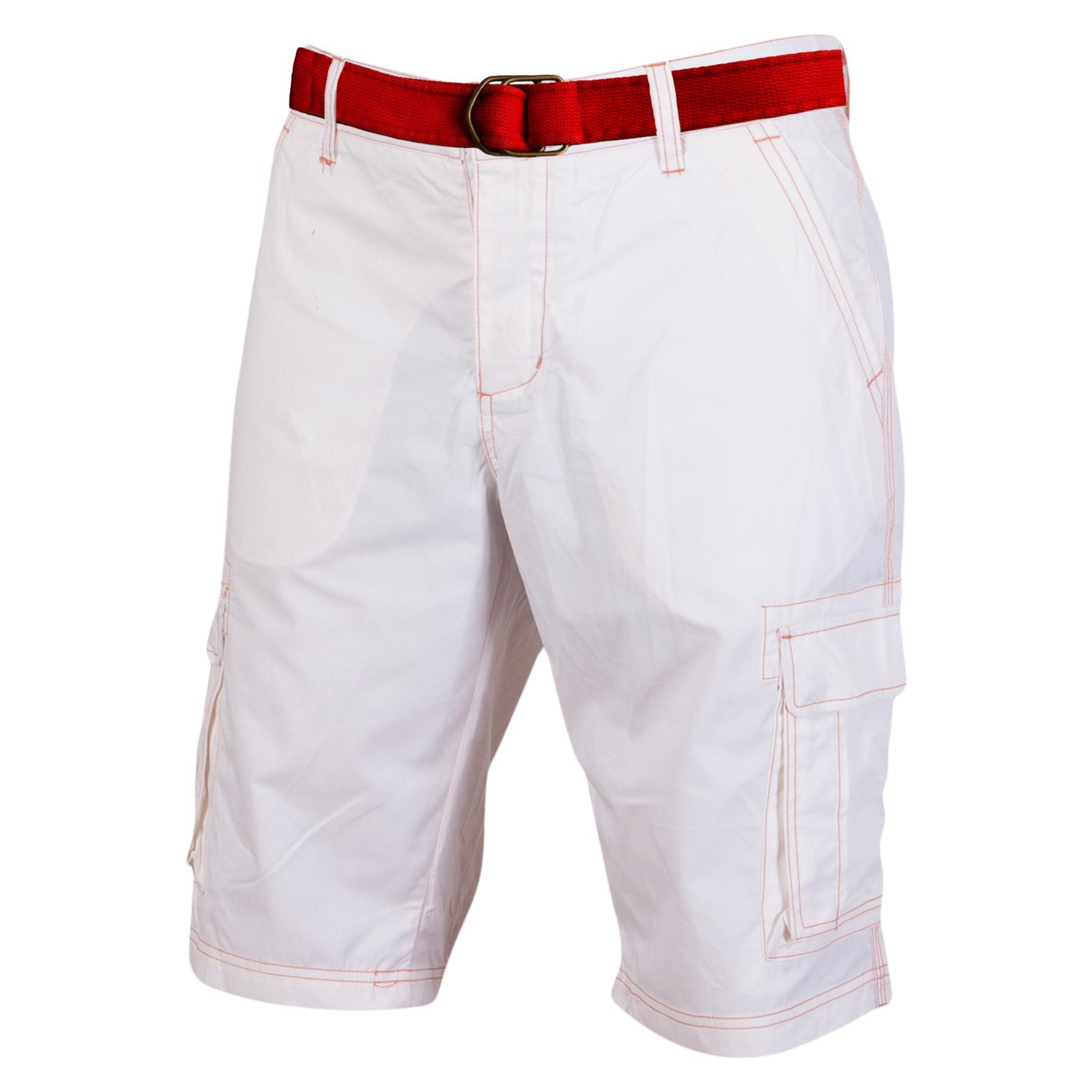 735f779a291 Мужские белые шорты с красным ремнем. Купить мужские белые шорты недорого  ...