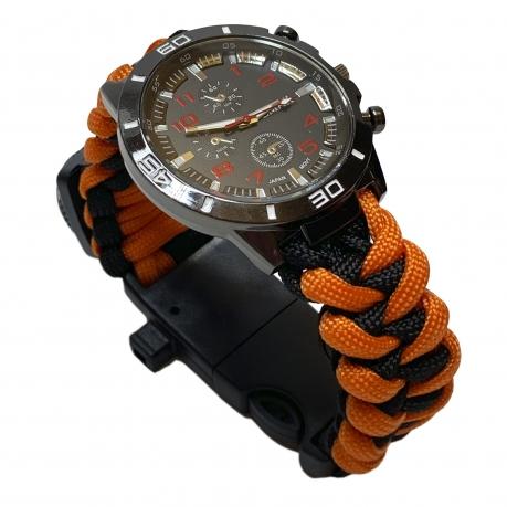 Мужские часы с браслетом из паракорда