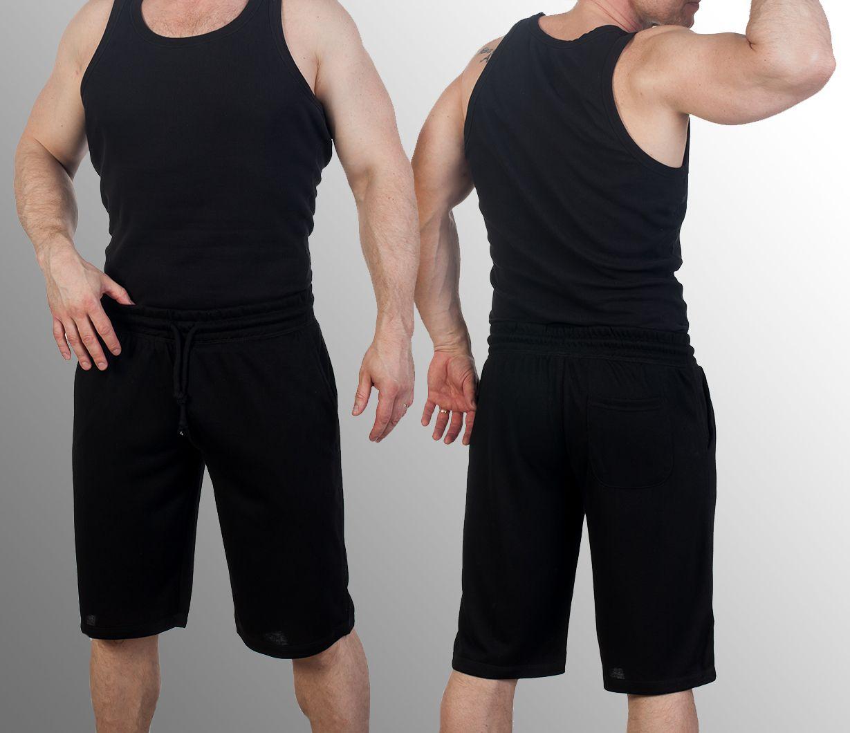 Трикотажные мужские черные шорты