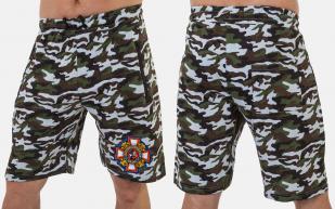 Мужские хлопковые шорты с шевроном Потомственного казака купить онлайн
