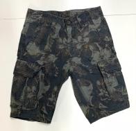 Мужские камуфлированные шорты с накладными карманами
