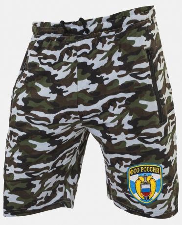 Мужские камуфлированные шорты с нашивкой ФСО