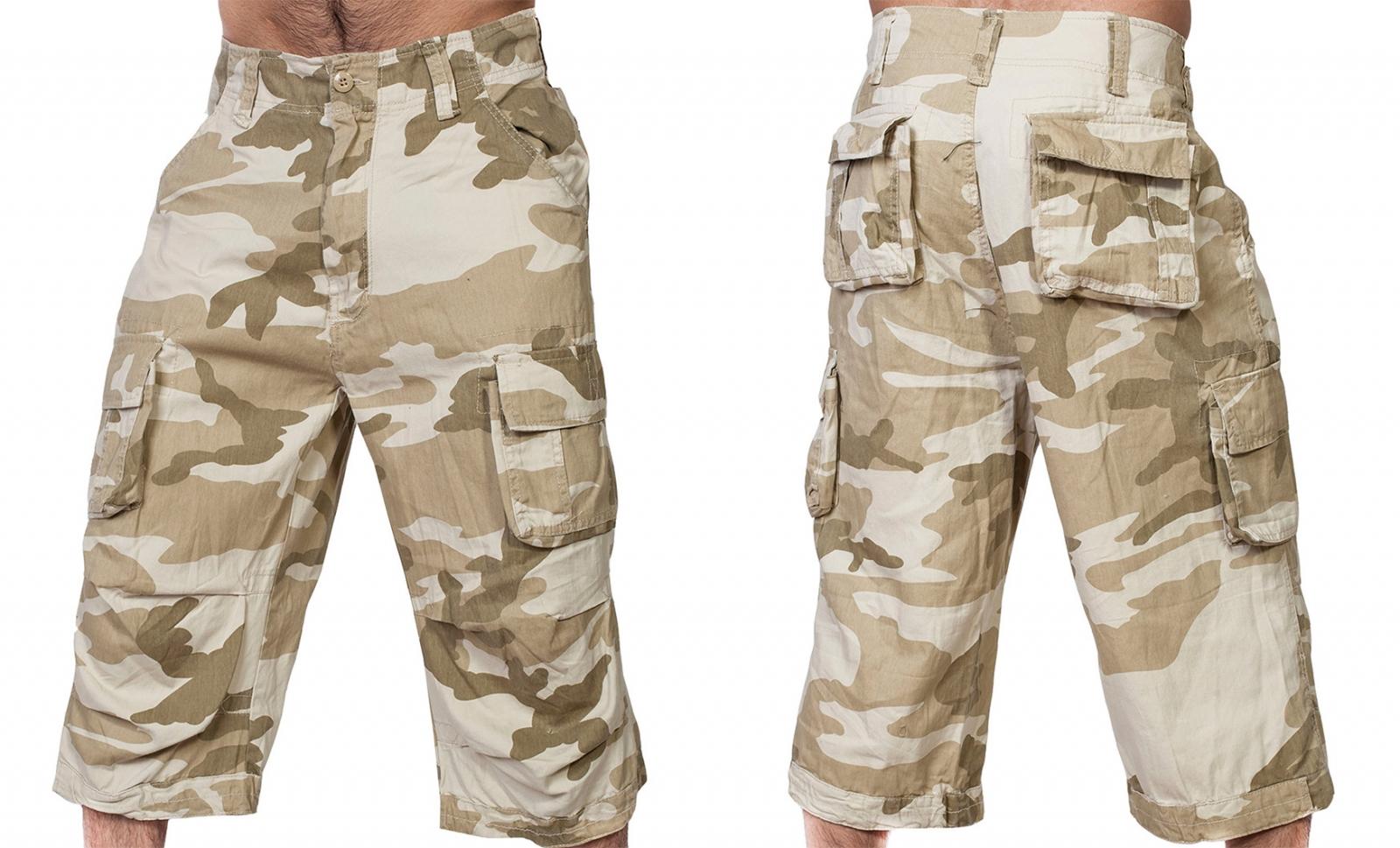 Заказать мужские шорты карго в камуфляже Sandstorm Brandit