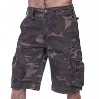 Мужские шорты карго от Brandit в камуфляже Woodland