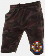 Купить мужские камуфляжные шорты с эмблемой Потомственный казак