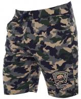 Купить мужские камуфляжные шорты с эмблемой Рыболовный спецназ