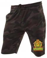 Мужские камуфляжные шорты с карманами и нашивкой Погранвойска