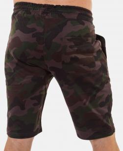 Мужские камуфляжные шорты с карманами и нашивкой Погранвойска - заказать в розницу