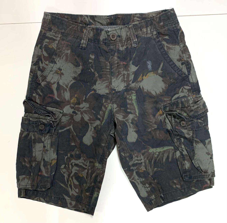 Мужские камуфляжные шорты с накладными карманами
