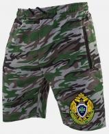 Купить мужские камуфляжные шорты с нашивкой Погранслужбы