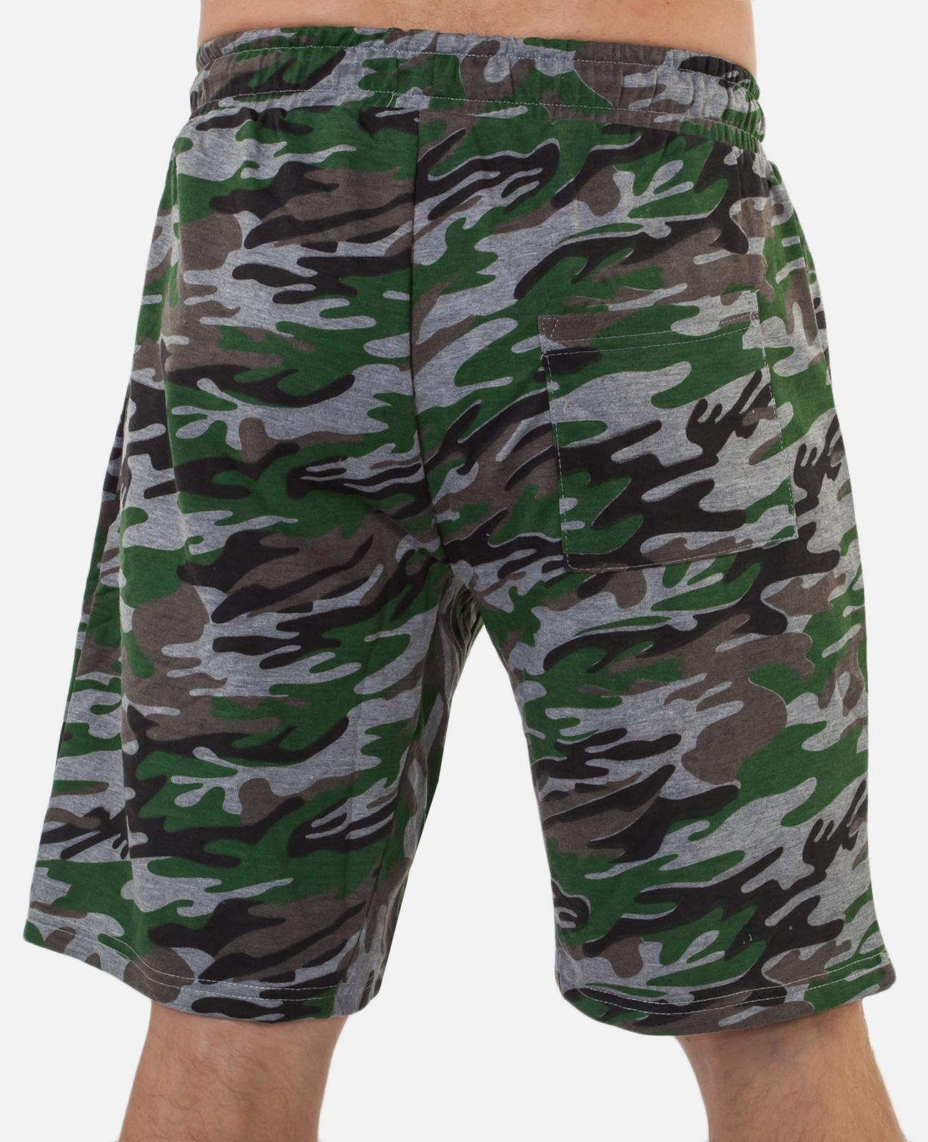 Мужские камуфляжные шорты с нашивкой Погранслужбы купить онлайн