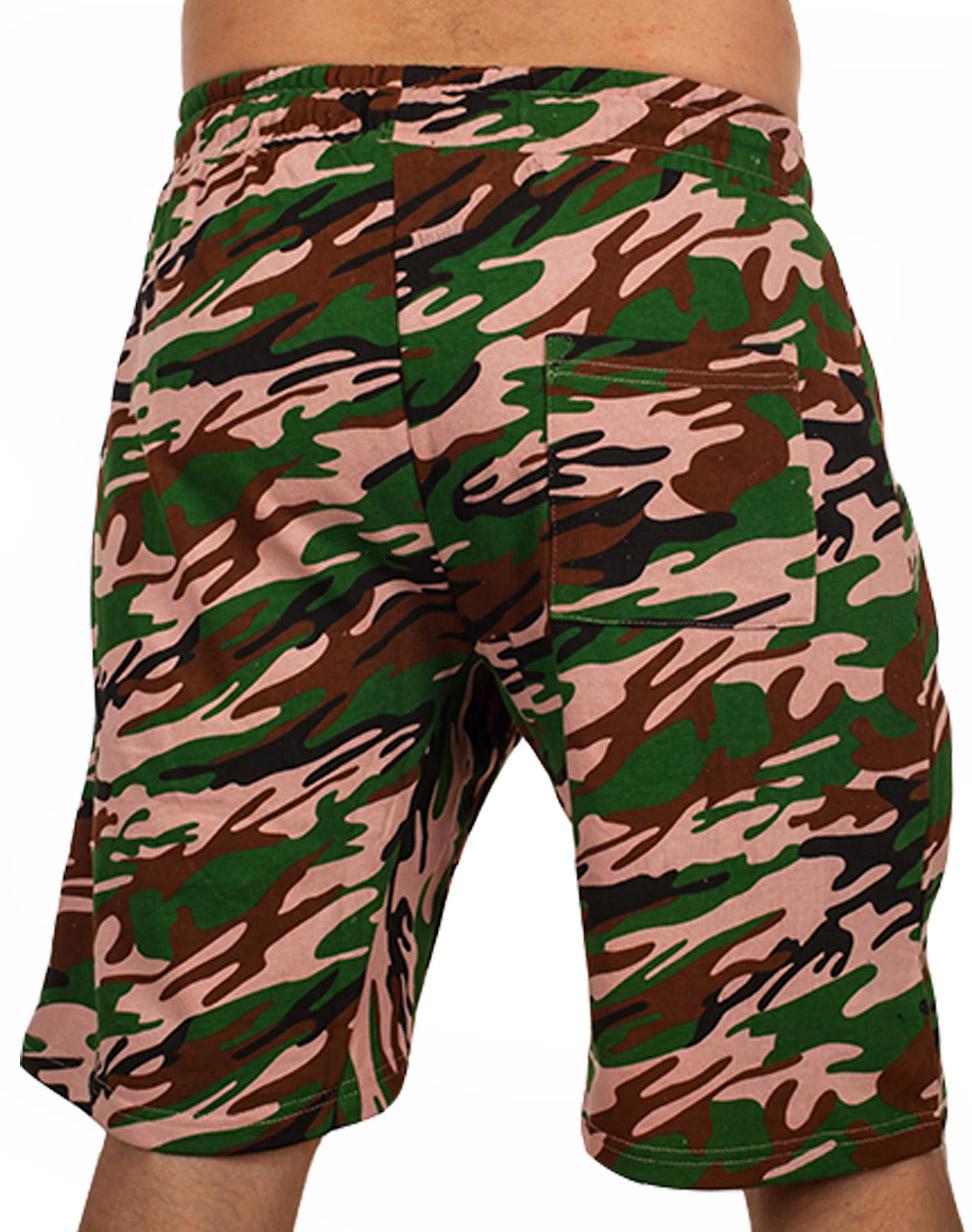 Мужские камуфляжные шорты с нашивкой Погранвойска - купить выгодно