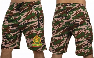 Мужские камуфляжные шорты с нашивкой Погранвойска - купить с доставкой