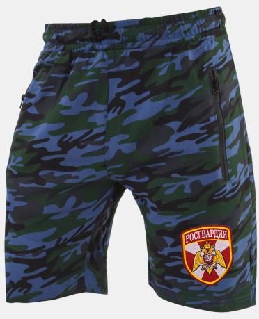 Мужские камуфляжные шорты с нашивкой Росгвардия
